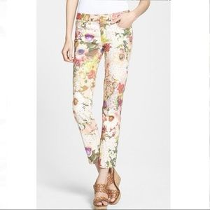 Tory Burch Izzy Floral Super Skinny Jeans
